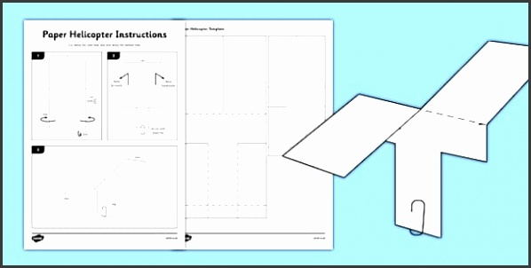 T HE 372 Paper Helicopter Basic Template