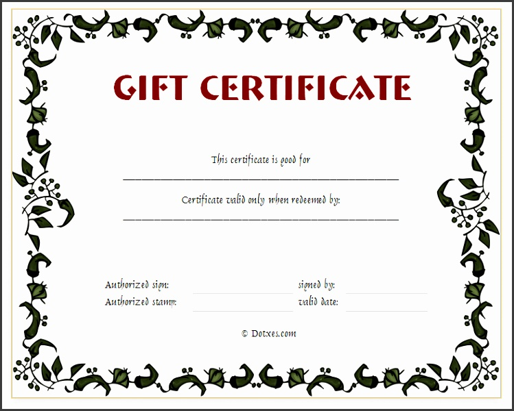 Printable Gift Certificates Templates Free Gift Certificates Templates Printable Gift Voucher Template Free