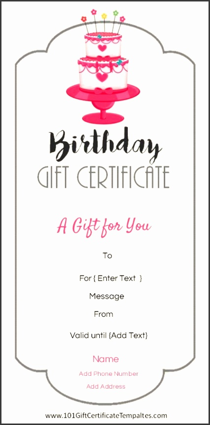 Free printable birthday t certificate template that can be customized online with our free certificate maker and printed at home
