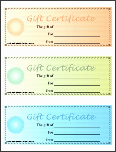 Gift Certificate Free Printable Template