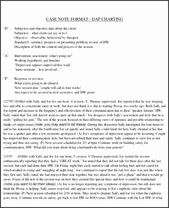 sample dap note 6 examples in pdf word inside dap note template