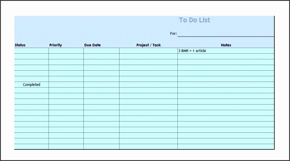 Printable Checklist Template 08