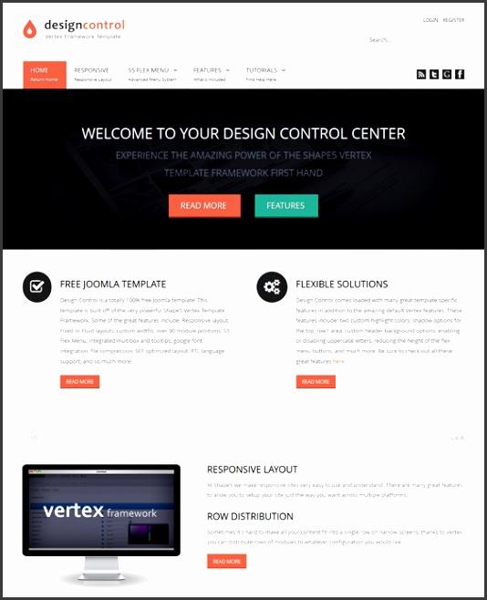 design control free professional joomla template