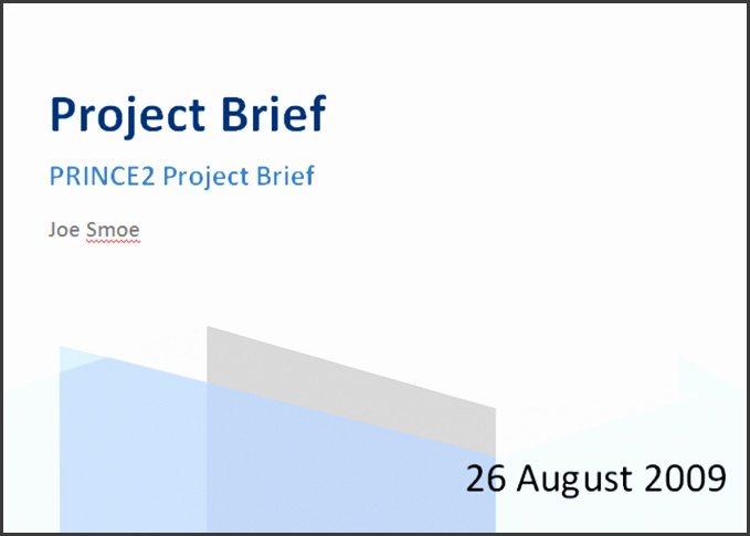 Prince2 Product Brief