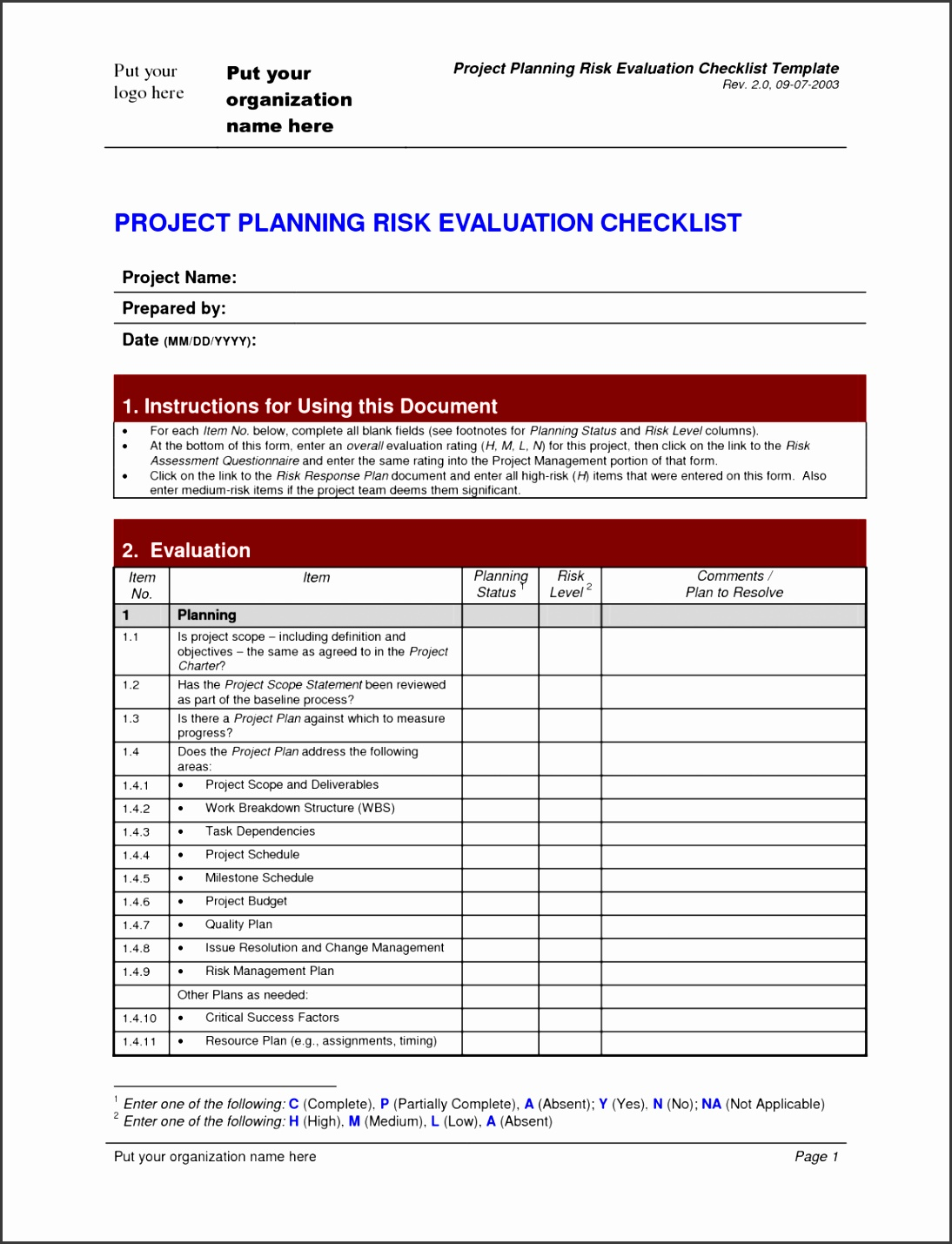 Project Checklist Template Authorizationletters Org Transition Sample Plan Document Initiation Software Closeout 1152