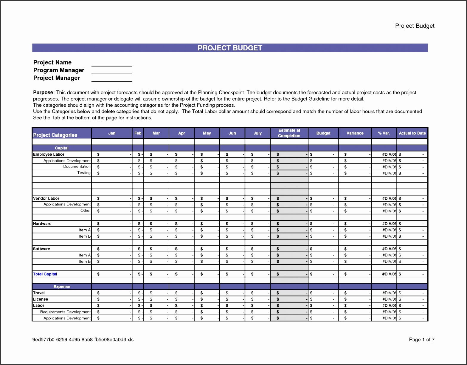 Construction Cost Analysis Template Awesome 29 Project Cost Template Excel