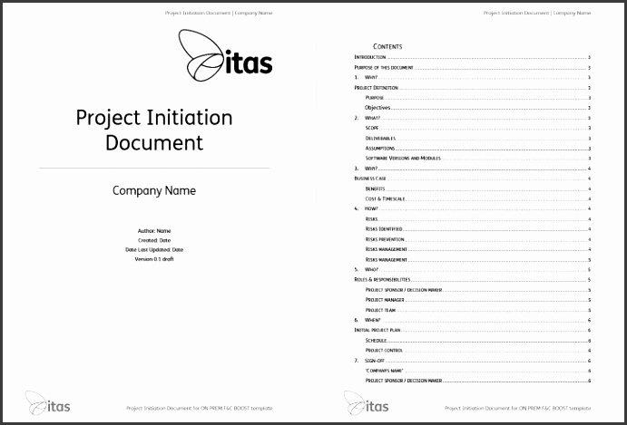 Free Printable Project Initiation Document Medium size Free Printable Project Initiation Document size