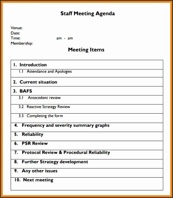 Agenda Form Blank Meeting Agenda Form Template Download