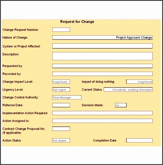 Change Control Form Template Free Change Control Template Download Customize For Your Ideas