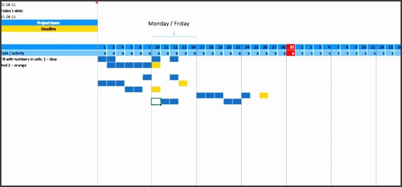 Acceptance · Project management · Dynamics365 · gantt planner excel template free