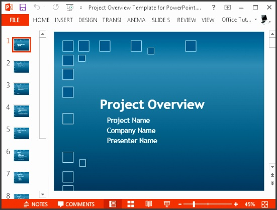 Free project plan PowerPoint template Create a Project Overview Presentation