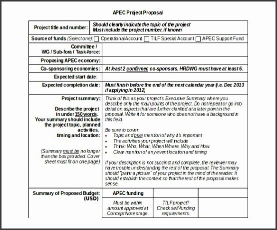 Development Materials Project Proposal Doc Template