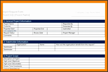 project request form template word 3