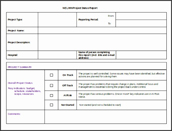 17 Status Report Templates – Free Pattern Instance Format