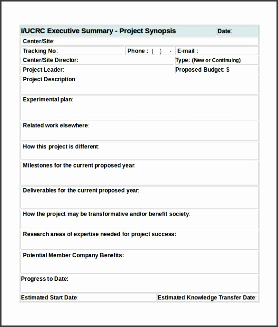 project summary template word 31 executive summary templates free sample example format