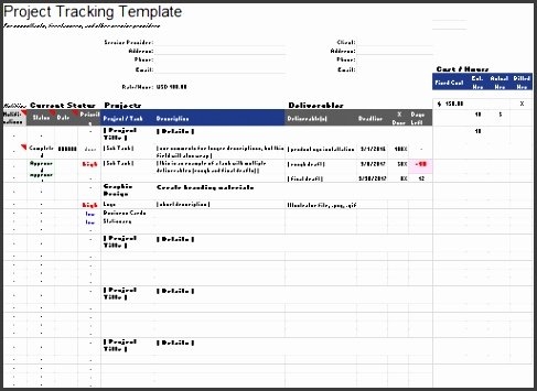 Download this Project Tracking Template 2