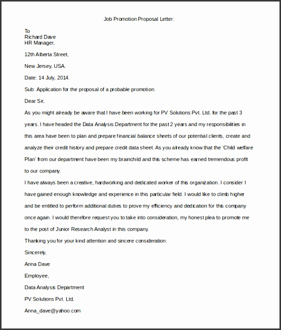 Proposal Letter Template Free Word Pdf Document Formats