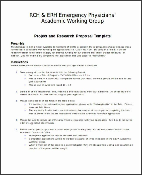 Project and Research Proposal