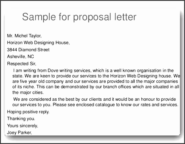 sample proposal letter for a project project proposa