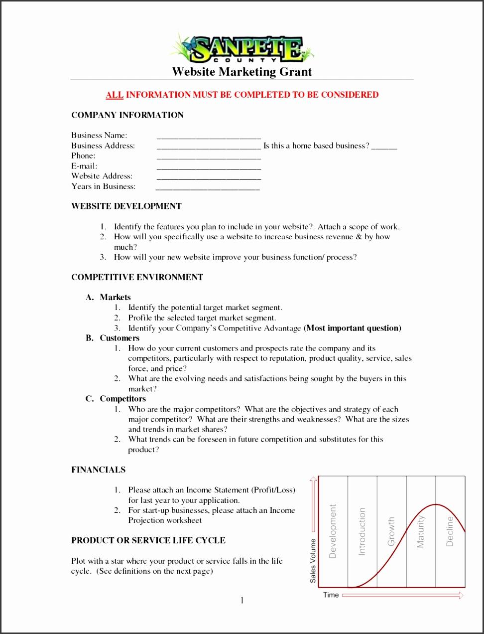 E merce Business Plan Sample Doc Checklist Pdf Proposal