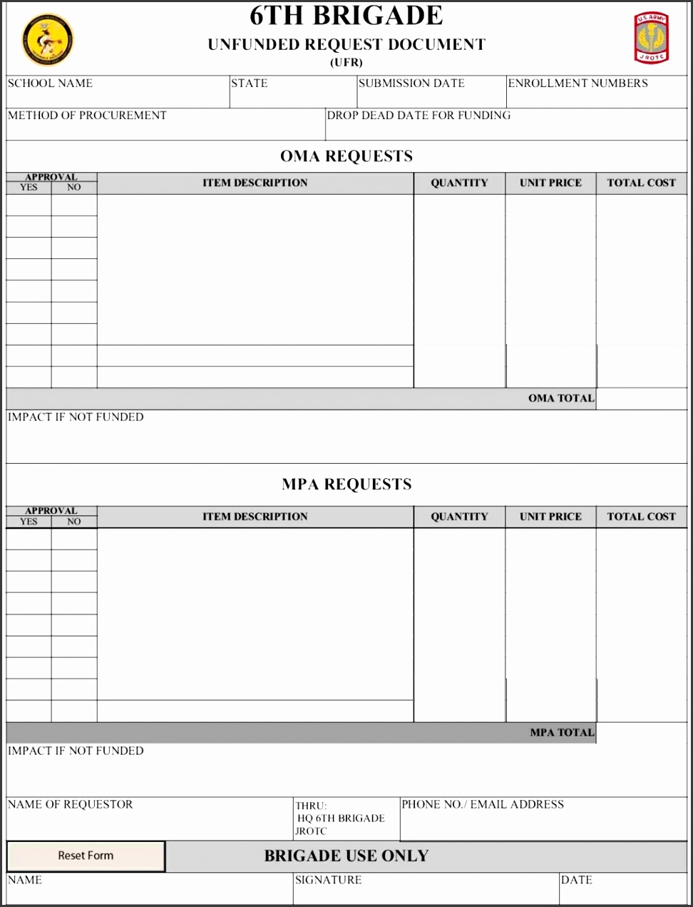 purchase requisition form template excel - Romeo.landinez.co