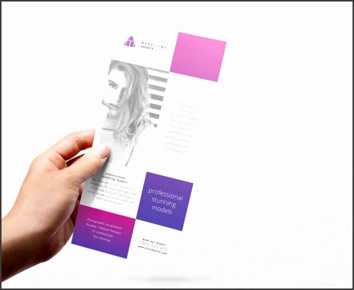 Modelling Agency Rack Card Template Brandpacks