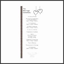 White Black Whimsical Hearts Wedding Program Rack Cards