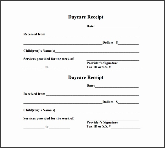 Daycare Receipt Template – 17 Free Word Excel Pdf Format Babysitting Invoice Template