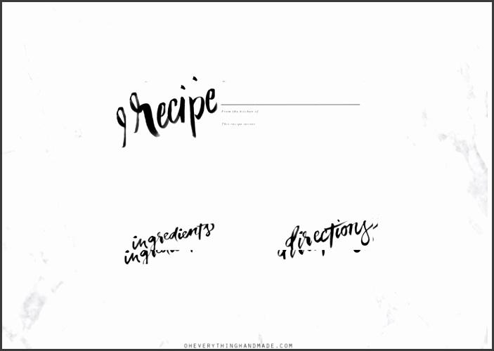 standard recipe card