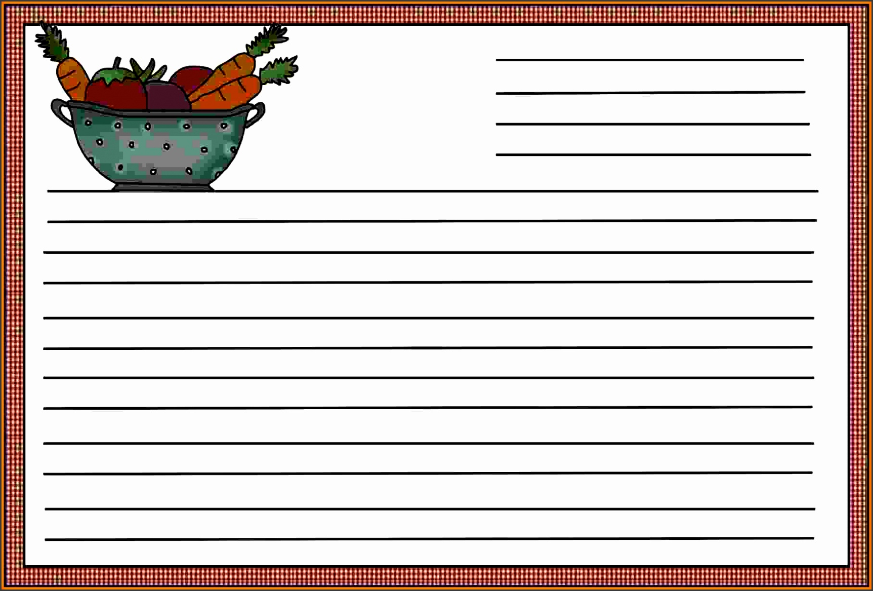 8 recipe template for word itinerary template sample
