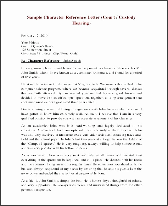 character letter sample character reference letter character witness statement for court template uk