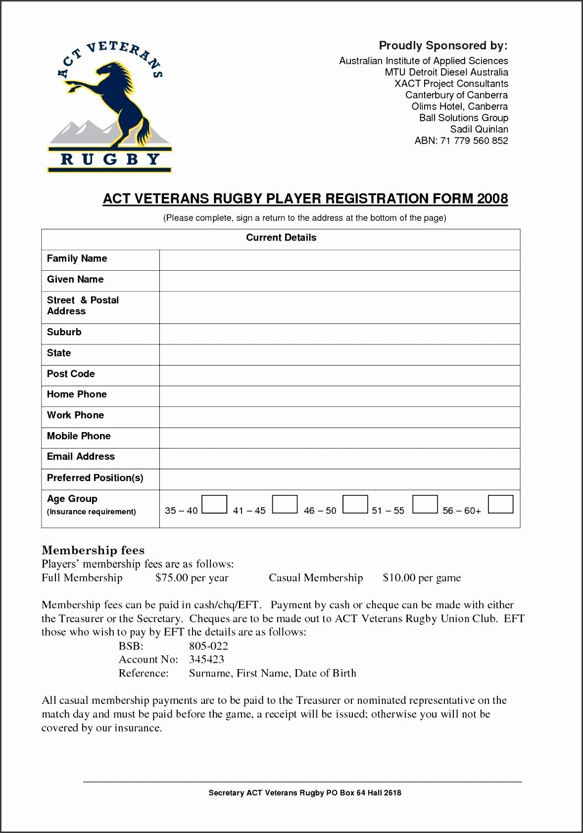 Act Vets Registration Form Template Doc xz9V04Og