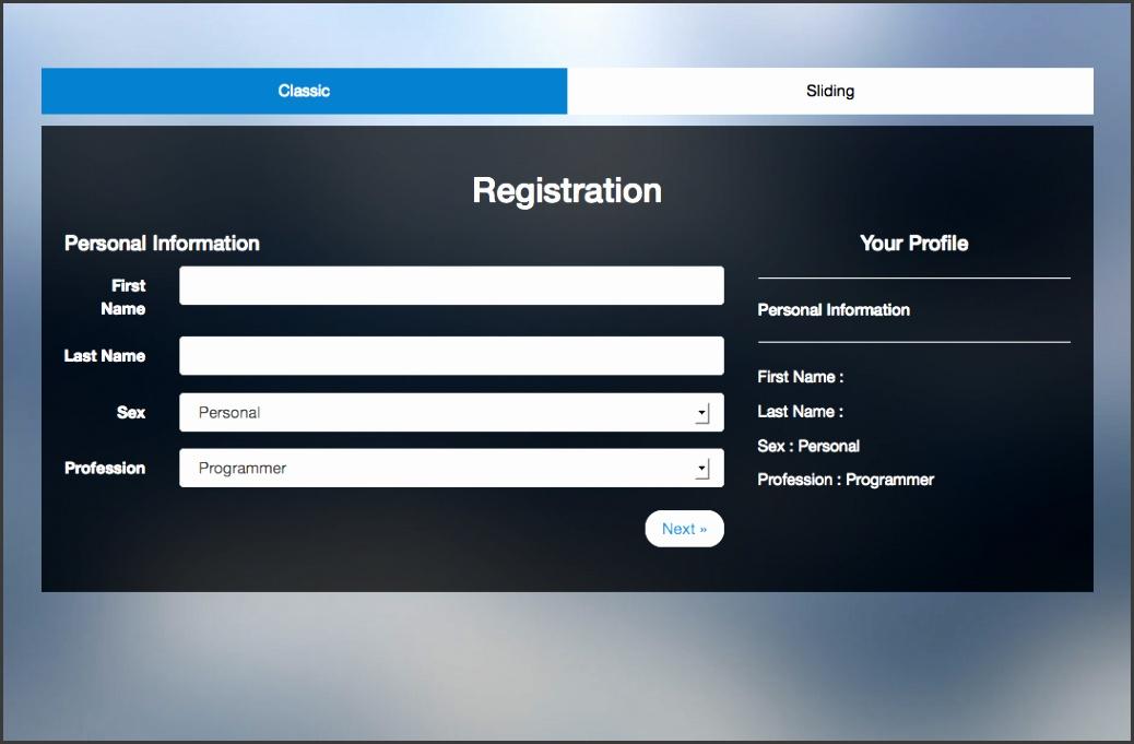 Registration Template
