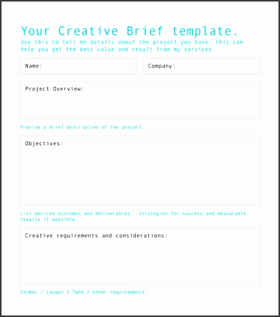 creative brief template free