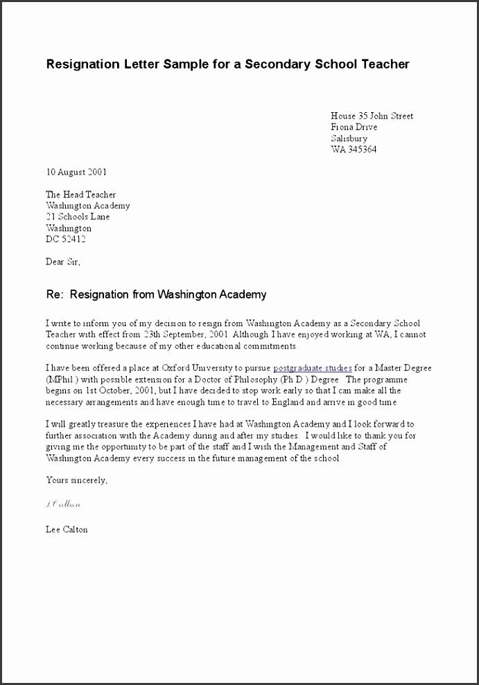 Template Letter Resignation Letter Resignation Samples Template