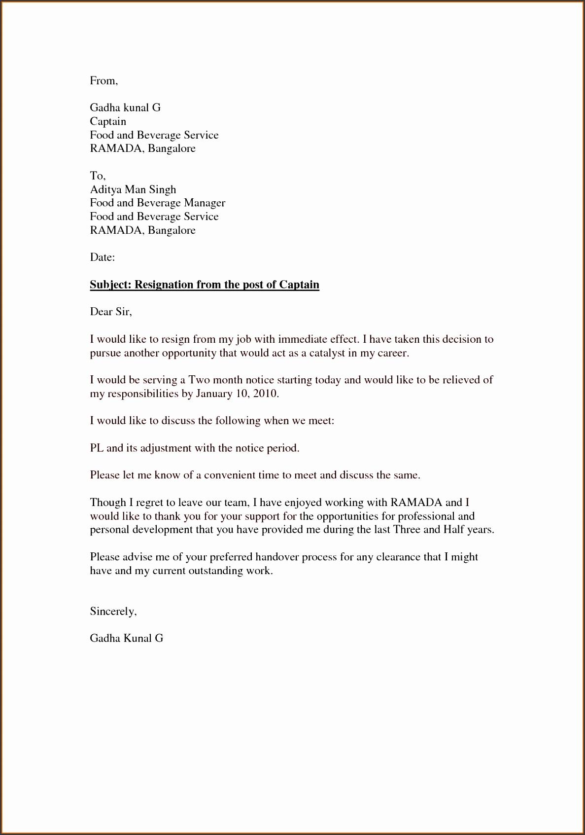 Alison Doyle Best Resignation Letter Resignation Letter Immediate