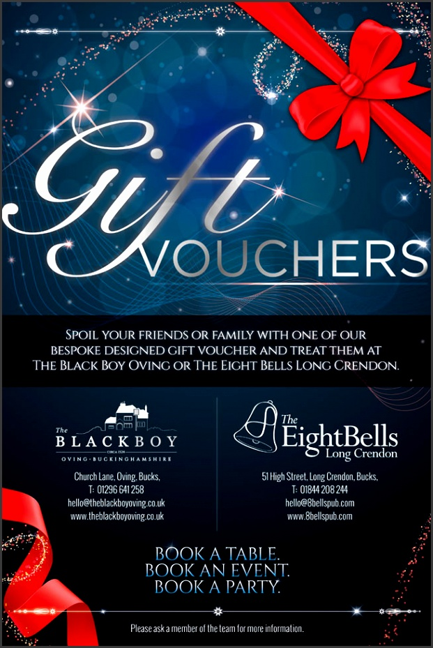 GIFT VOUCHERS NOW AVAILABLE