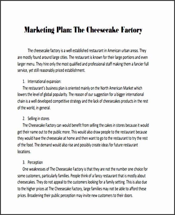 New Restaurant Marketing Plan