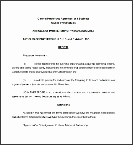 28 Restaurant Partnership Agreement Template