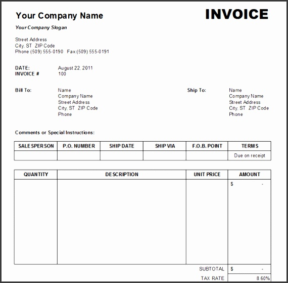 free sales invoice template samples 1