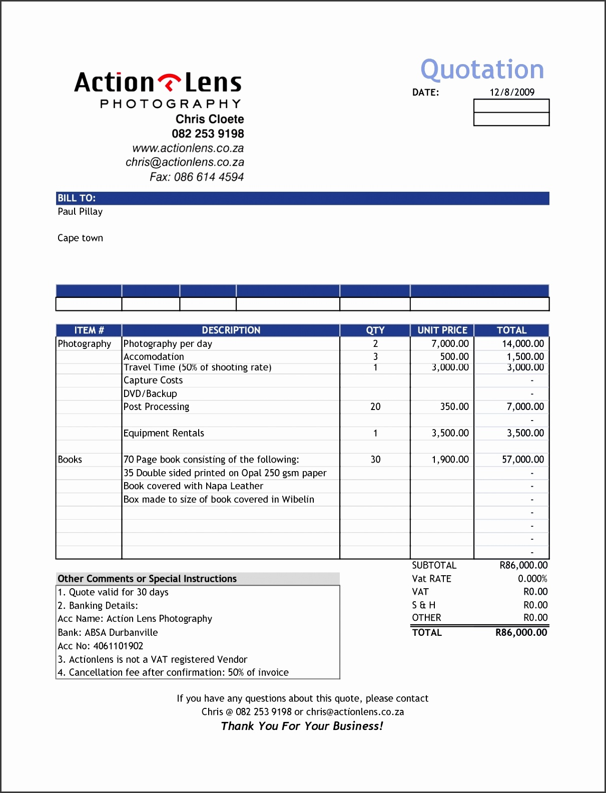 Sale Invoice Format In Excel