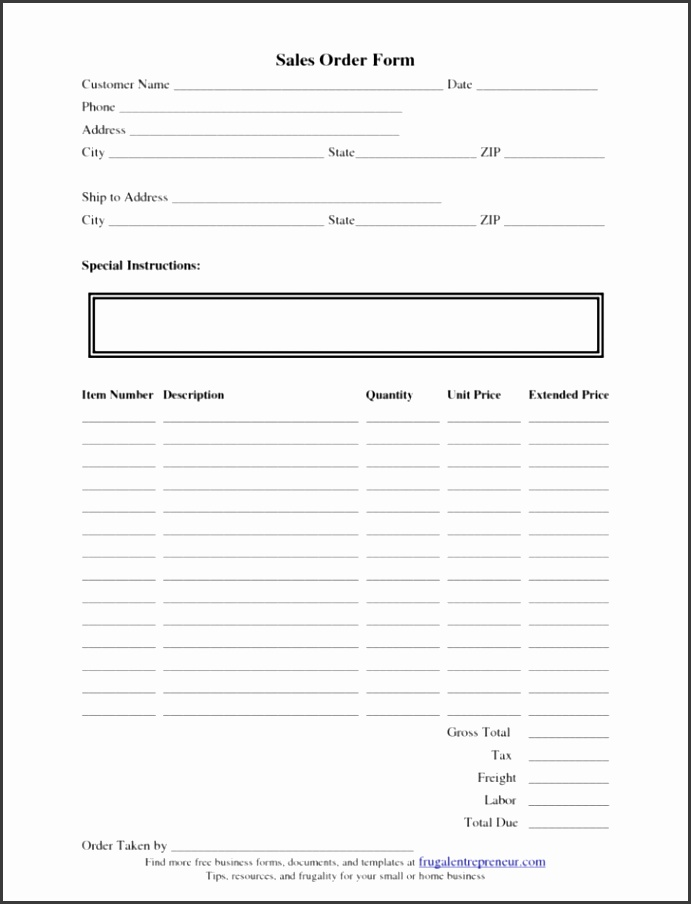 Small Business Forms Templates
