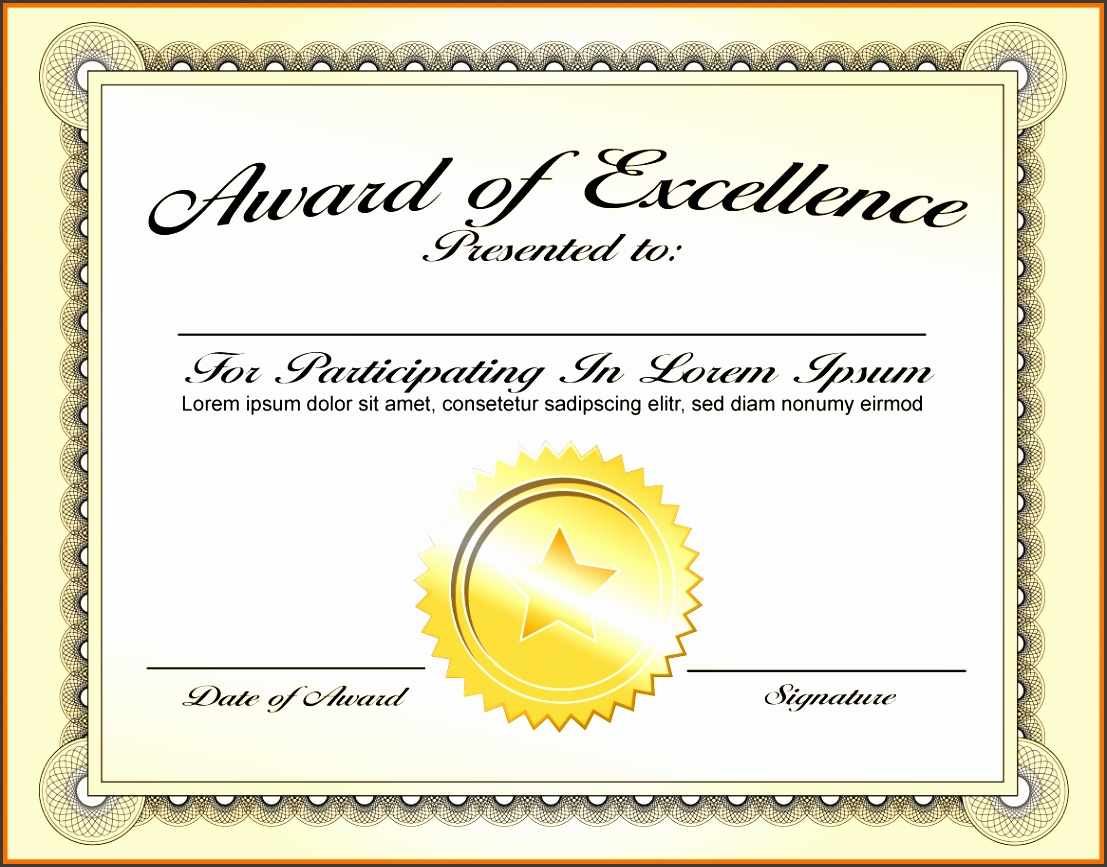rePin image Certificate Award Template on Pinterest