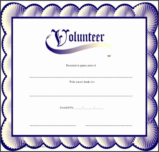 Volunteer certificate template pics Volunteer Certificate Template All shots Best Award with medium image