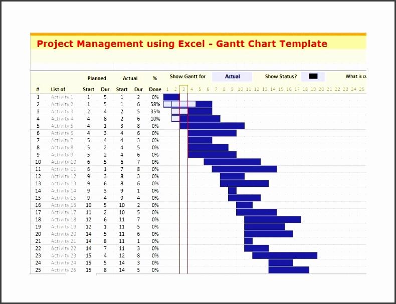 Printable Grantt Chart Template 25