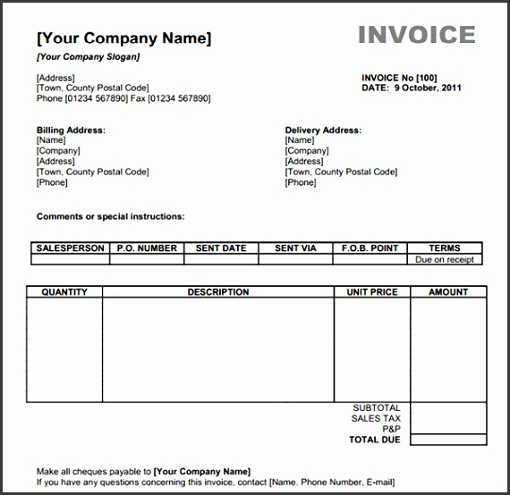 pdf invoice templates free 3