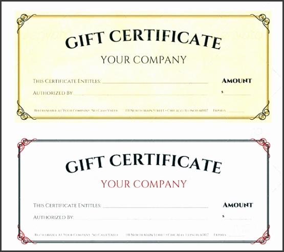 Word Gift Certificate Template Fresh Sample Gift Certificate Template 56 Documents Download In Pdf
