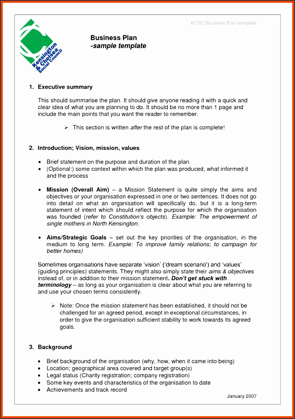 Business Plan Format Proposal Templates Examples Sample Long Term Goals And Objectives Template