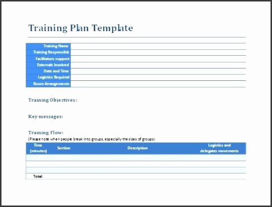 Sample Training Plan 9 Example Format