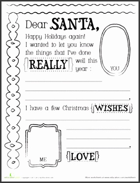 Santa Letter Template Kids Party Craft Printable